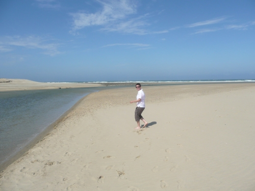 Where the Nahoon River meets the Indian Ocean.