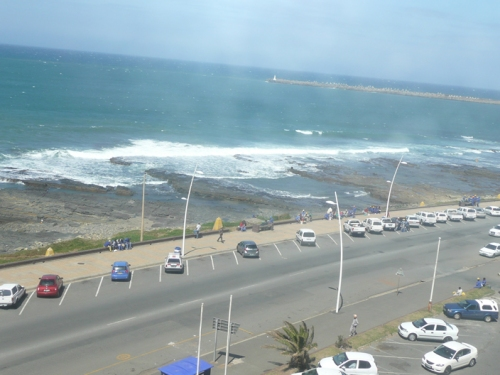 The view from our apartment, Kennaway Court, Inverleith Terrace, East London, South Africa.