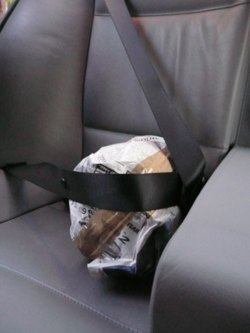 Buckle up! We make sure the pottery is safe for the ride down.