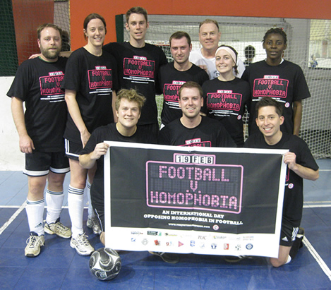 The Dixie Kicks support the Football v. Homphobia Initiative, February 19, 2010