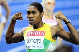 Caster Semenya at the track