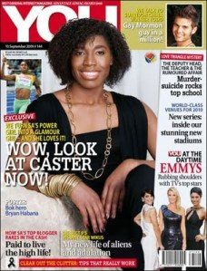 Caster Semenya on the cover of You magazine